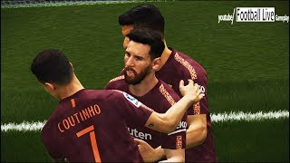 PES 2018 | Espanyol vs FC Barcelona | Coutinho and Messi amazing Goals | Gameplay PC