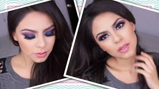 getlinkyoutube.com-Maquillaje  de noche (AZUL Y VINO) -(PRODUCTOS ECONOMICOS) San Valentin  Guay-NGTips (Nena Guzman)