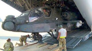 getlinkyoutube.com-Unloading AH-64 Apache Helicopters from C-17 Globemaster III