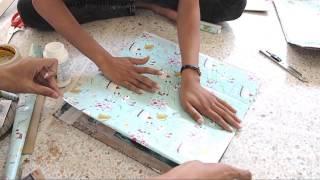 getlinkyoutube.com-DIYชั้นวางของจากกระดาษลัง