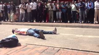 Tinashe Makura in First Street Harare