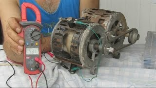 getlinkyoutube.com-Generador Electrico Con un  Motor quemado-- Electric generator with washing machine engine Burne
