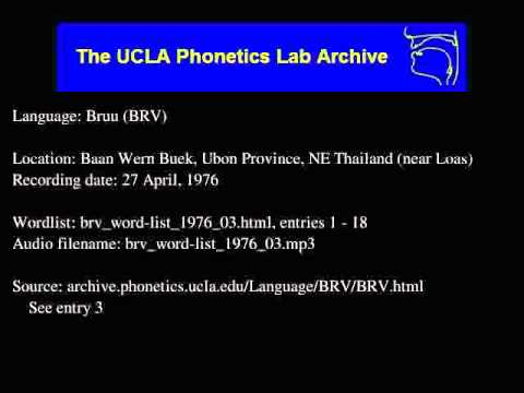 Bru, Western audio: brv_word-list_1976_03