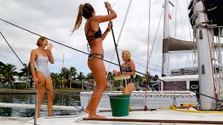 The Girls Came to Visit the Boat! (Sailing La Vagabonde) Ep. 56