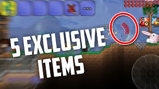 getlinkyoutube.com-Top 5 EXCLUSIVE Items in Terraria iOS/Android & Console!