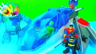getlinkyoutube.com-Imaginext The Javelin & Batman with Scooby-Doo Disney Frozen Princess sponge Bob