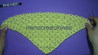getlinkyoutube.com-Puntada #abanico #triangular con doble punto alto #ganchillo #crochet