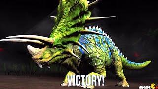 getlinkyoutube.com-Majungasaurus Vs Stegosaurus Dinosaur Weekend Event Challenge - Jurassic World The Game