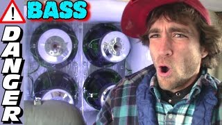 getlinkyoutube.com-BASS SO LOUD... The Floor CAVES IN!!!  EXO's Largest & LONGEST CLIPOSAURUS Subwoofer Demo EVER