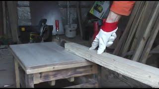 getlinkyoutube.com-Стол для циркулярки из подручных материалов.