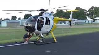getlinkyoutube.com-Hughes 500D at sunset. Approach, landing, full shutdown. Aerial Solutions.