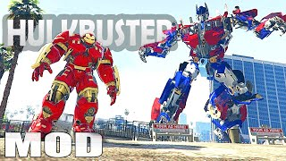 getlinkyoutube.com-Grand Theft Auto V - Iron manV Hulkbuster Mods GTA 5 Gameplay