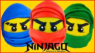 getlinkyoutube.com-NINJAGO GIANT Play Doh Surprise Eggs Masters Of Spinjitzu  LEGO Surprise Toy Opening Videos
