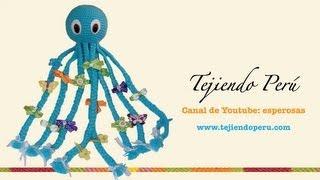 getlinkyoutube.com-Pulpo porta ganchitos de pelo tejido a crochet (amigurumi)