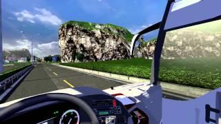 getlinkyoutube.com-Euro Truck Simulator 2 Bus trip to Kalamata with Turkish MB Tourismo