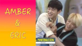 getlinkyoutube.com-Amber and Eric Nam Sweet moments on After School Club 150804