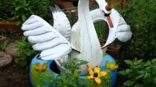getlinkyoutube.com-50 вариантов любимой поделки для дачи - лебедь из покрышки