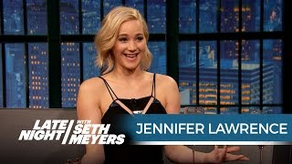 getlinkyoutube.com-Jennifer Lawrence Just Shot a Sex Scene with Chris Pratt - Late Night with Seth Meyers