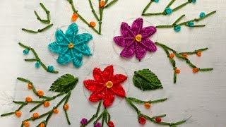 getlinkyoutube.com-Hand Embroidery: Spiderweb Variations