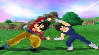 getlinkyoutube.com-Mystic SSJ4! Goku SSJ4 And Vegeta End Fusion! Tenkaichi 3 Mod