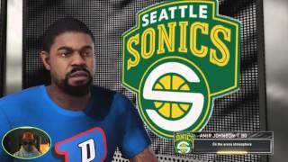 getlinkyoutube.com-NBA 2k16 - My GM Seattle Super Sonics 1st  Appearance  - 3rd Year - Game 3 -TV Style Broadcast