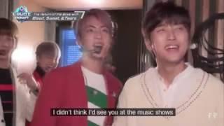 getlinkyoutube.com-방탄소년단 BTS 진/산들/랩몬/잭슨 반가운 방송친구들(시끄러움주의)ㅋㅋ