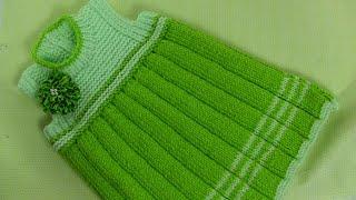 getlinkyoutube.com-تريكو يدوي -طريقة سهلة لعمل فستان مكسر أنيق وجميل للبنات-(الجزءالأول)