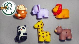getlinkyoutube.com-Learn animal names with K's Kids Popbo Blocs soft plastic building blocks toy (Wild Animals)