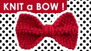 getlinkyoutube.com-How to Knit a BOW in SEED STITCH - Easy DIY for Beginning Knitters