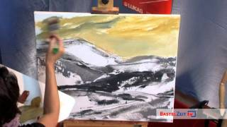 getlinkyoutube.com-Bastelzeit TV 87 - Acrylbild: Landschaft