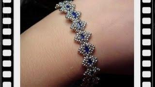 Bollywood Bracelet with Tila beads Beading Tutorial by HoneyBeads1 (with tila beads)
