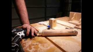 getlinkyoutube.com-Easy! Round Tenons With Table Saw And Router