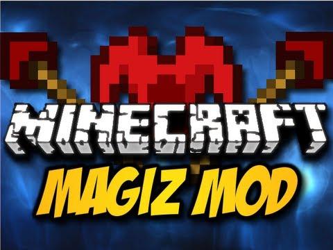 Minecraft Magiz Mod - MAGICAL STAFFS, ROBES, & MORE! (HD)