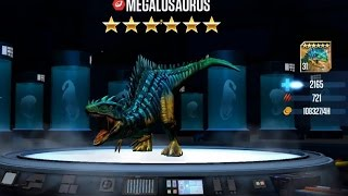 getlinkyoutube.com-MEGALOSAURUS Level  40 Jurassic World The Game