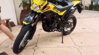 getlinkyoutube.com-Kawasaki D-tracker SE kuning hitam test ride