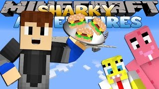 getlinkyoutube.com-Minecraft Adventure - Sharky and Scuba Steve - SPONGEBOB & PATRICK FLY FIRST CLASS!!