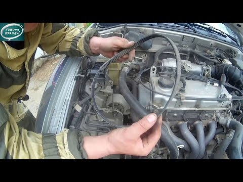 Лёха & замена ремня генератора и кондиционера Mitsubishi Carisma 1996
