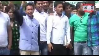 पिथौरागढ़ :पुलिस ने नही फूँकने दिया सीएम का पुतला