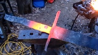 getlinkyoutube.com-Blacksmith a sword in six hours