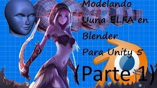 Modelando una Elfa en Blender Para Unity 5 (Parte 1)