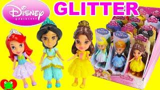 getlinkyoutube.com-Disney Princess Mini Toddler Dolls with Glitter
