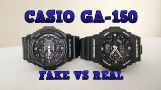 getlinkyoutube.com-Casio G-SHOCK GA-150 Fake vs Real