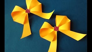 Awesome and Easy Paper Bow or Ribbon  for gift box decoration. Gifts ideas