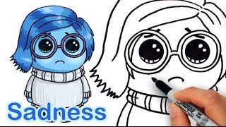 getlinkyoutube.com-How to Draw Sadness from Pixar Inside Out Cute Step by step