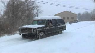 getlinkyoutube.com-SKULL GARAGE...SNOW STORM COMING,SKULLBURBAN SNOW DYNO 2016