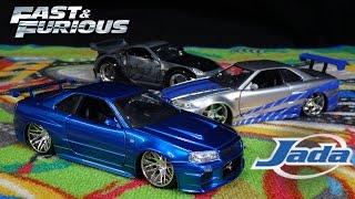 getlinkyoutube.com-Fast and Furious Brian's Blue Nissan Skyline GTR - Jada Toys