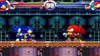 getlinkyoutube.com-Sonic MH & Classic Sonic vs Knuckles MH & Classic Knuckles MUGEN Battle!!!