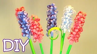 getlinkyoutube.com-DIY Curly Paper Flowers - How to make Swirly Paper Hyacinths