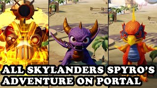 getlinkyoutube.com-Skylanders Superchargers - All Skylanders Spyro's Adventure on Portal GAMEPLAY