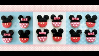getlinkyoutube.com-Como decorar galletas de Mickey y Minnie Mouse